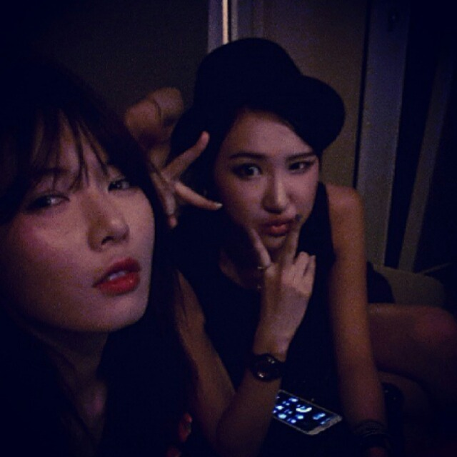 [SELCA] 13.08.22 4Minute's HyunA Instagram update with Jung Hwa and LE