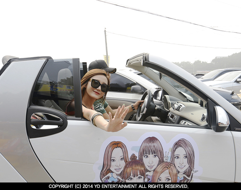 [OFFICAIL PHOTOS] 140719 EXID at Benz Smart Promotion @ Eulwangri Beach