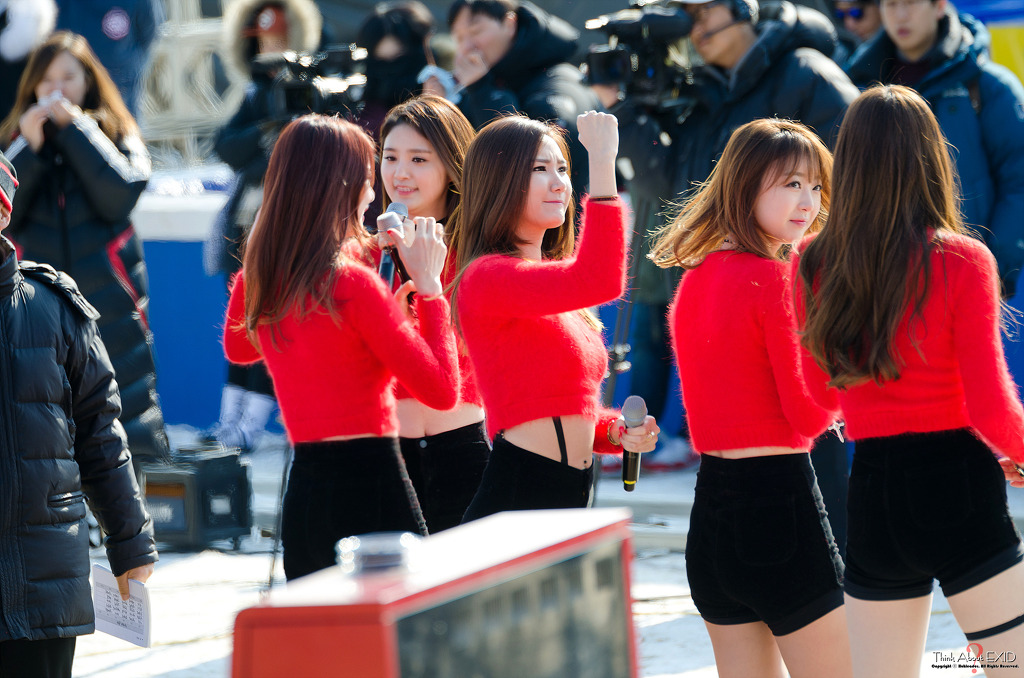 [HQ/FANTAKEN] 14.12.14 EXID at KBS Deam Team Recording