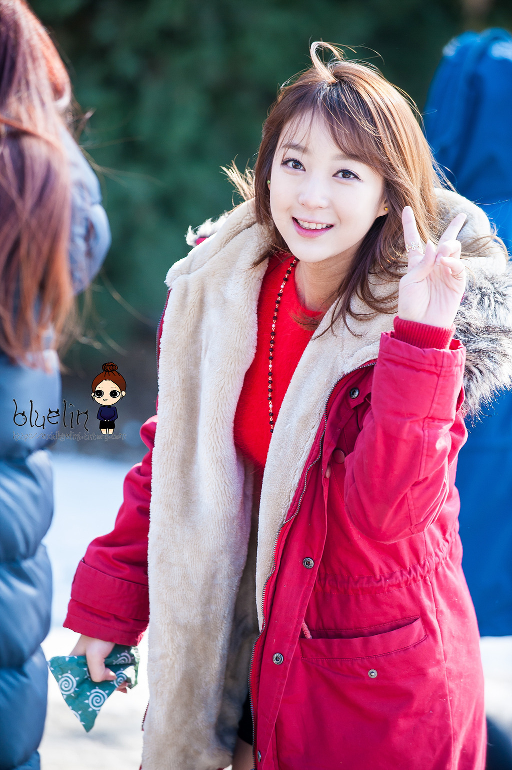 [HQ/FANTAKEN] 14.12.14 Hyelin at KBS Let's Go Deam Team Recording