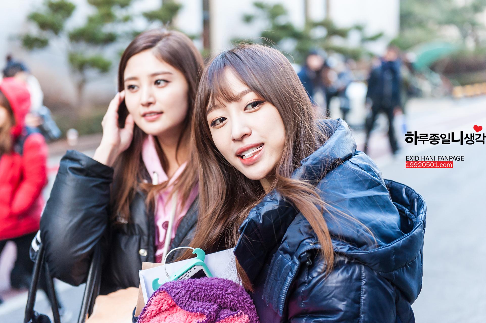 [HQ/FANTAKEN] 150109 Hani arrival @ Musicbank