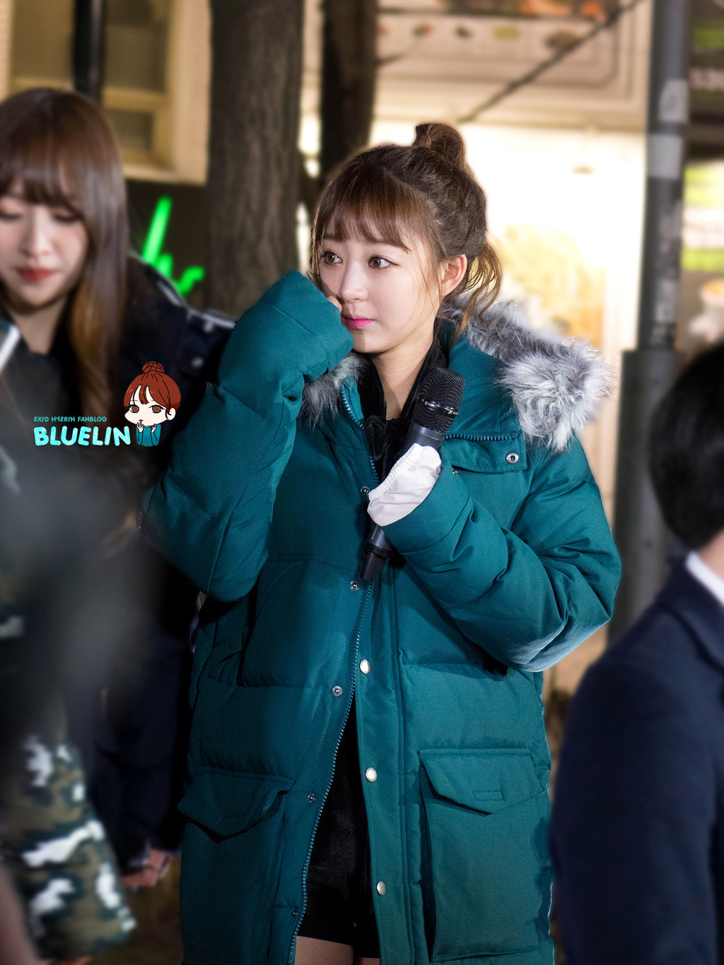 [HQ/FANTAKEN] 150130 Hyelin at One Night of TV Entertainment recording